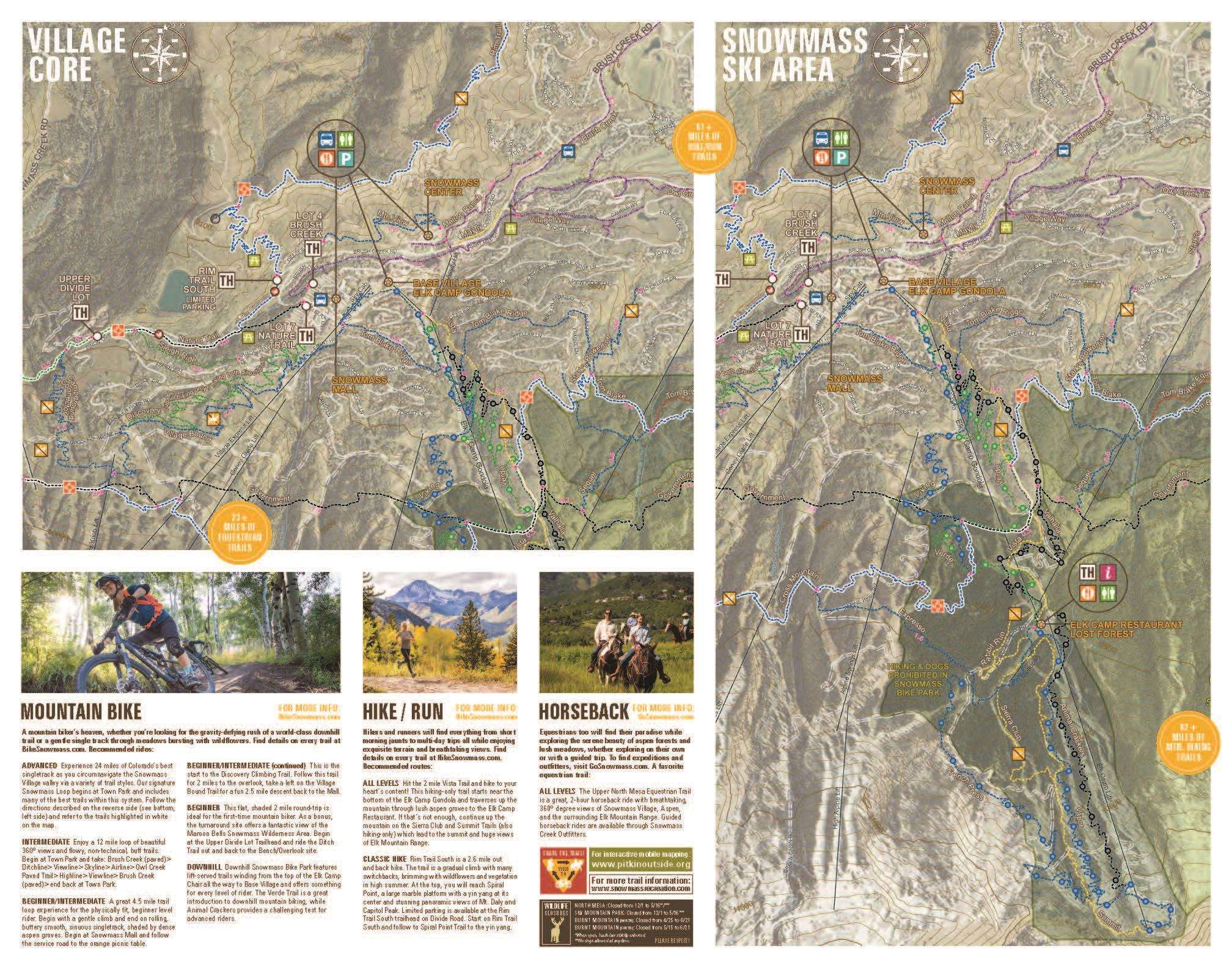 Snowmass Summer Trails | Snowmass Village Parks and Recreation, CO